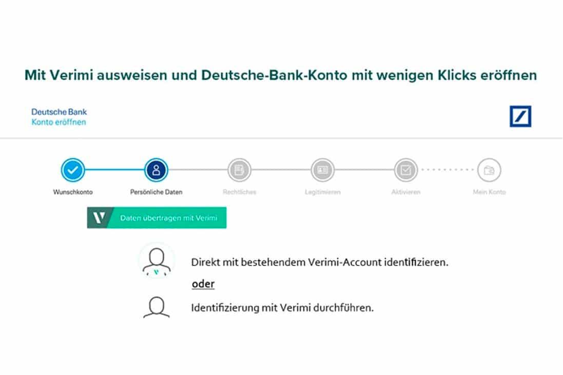 verimi ausweisen deutsche bank