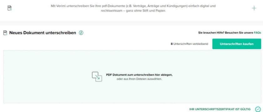 Dokumente direkt digital unterschreiben
