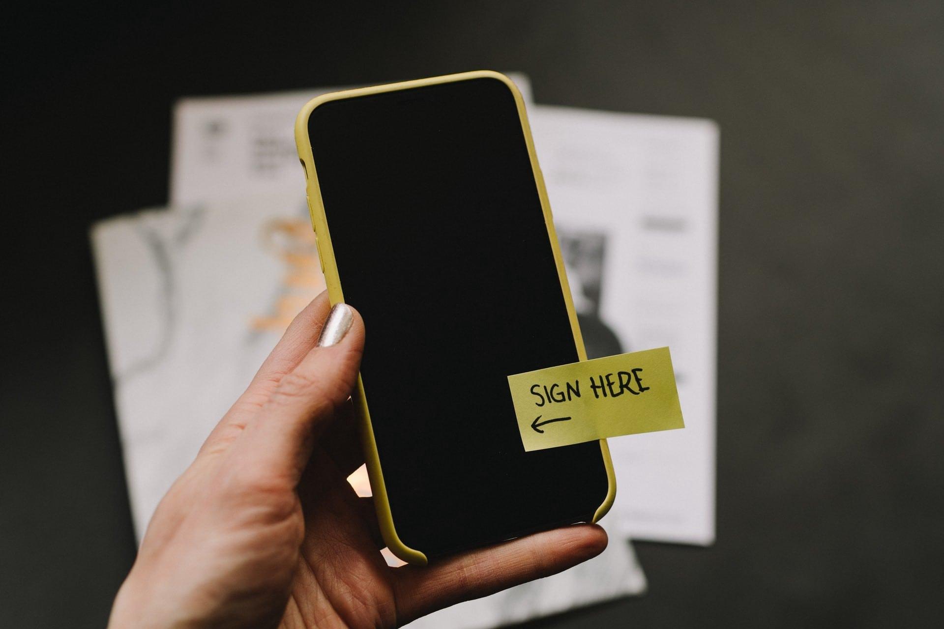 Verimi digital unterschreiben