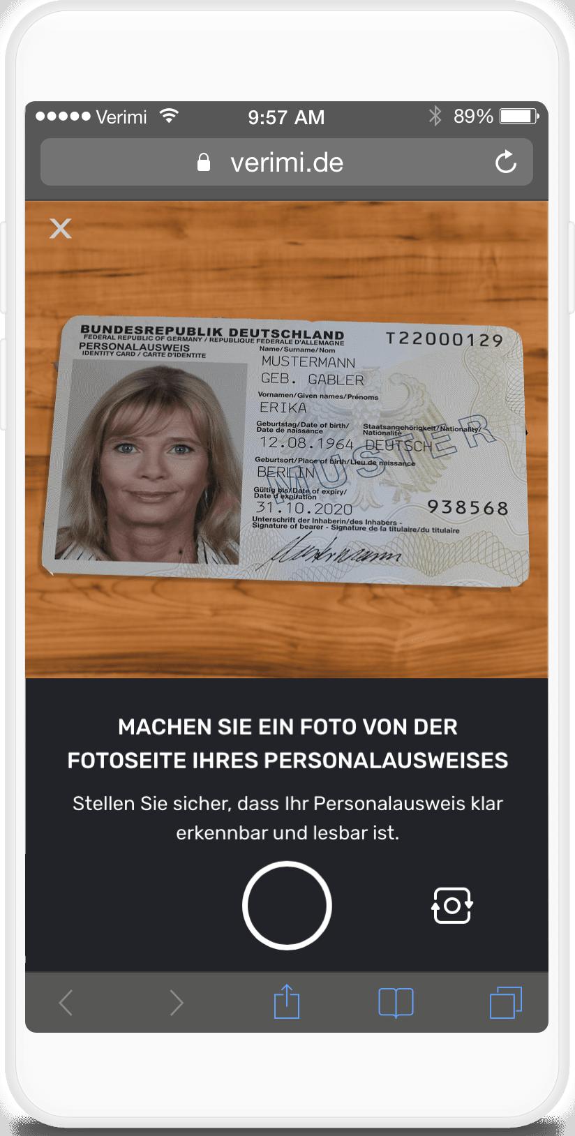 Foto-Ident online ausweisen