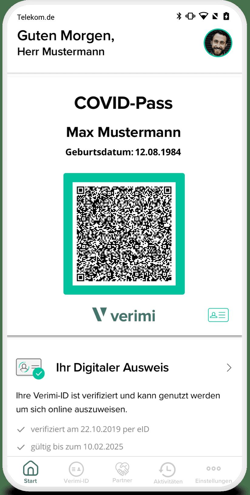 COVID-Pass: Ihr Digitales COVID-Zertifikat der EU im persönlichen Verimi-Wallet